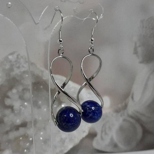 Boucles d'Oreilles perles LAPIS LAZULI EXTRA
