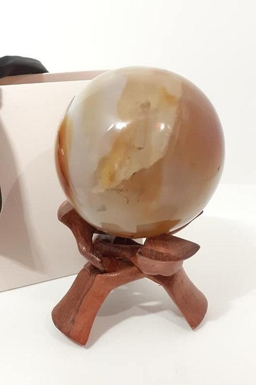 Sphère XL en Agate Naturelle de Madagascar Qualité Extra