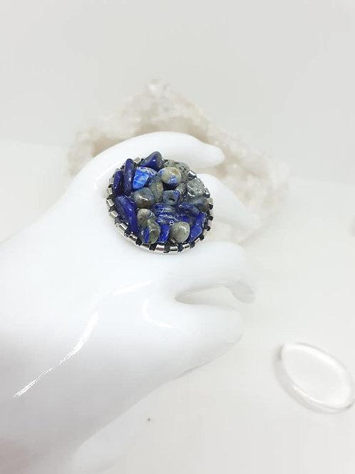 Bague ronde Lapis Lazuli