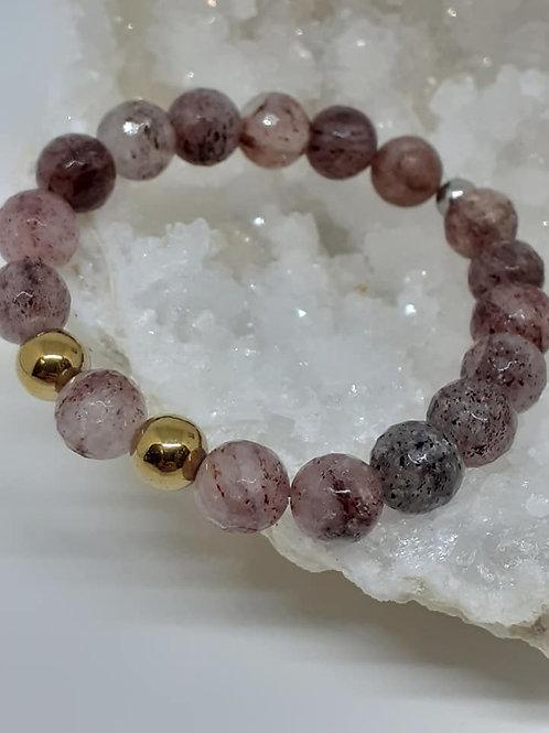 Bracelet Quartz Fraise