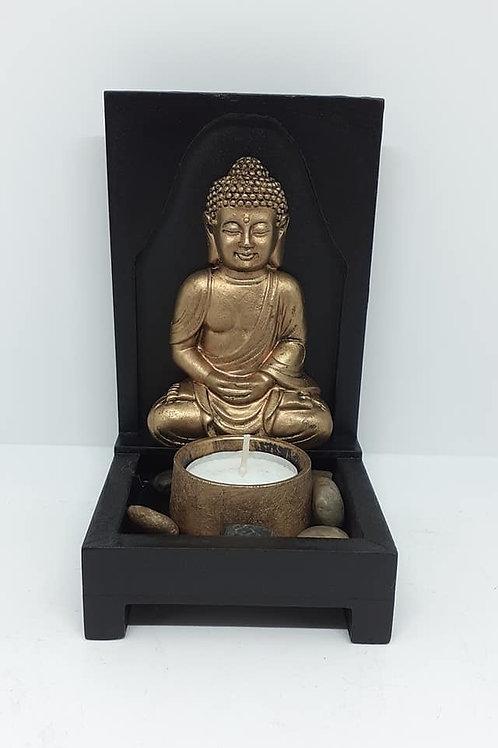 Tableau Bouddha porte bougie