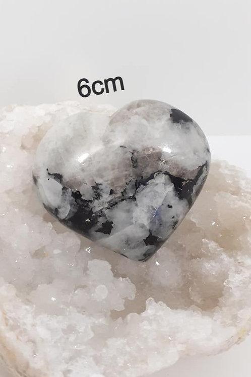 Coeur en Pierre de Lune Qualité Extra