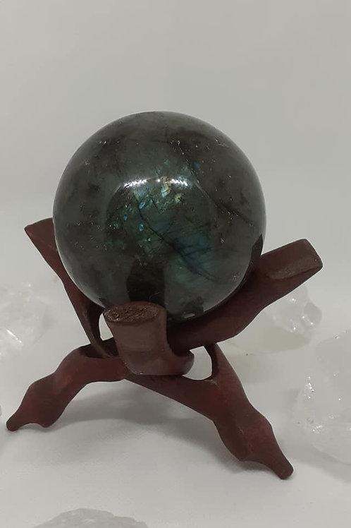 Sphère 800g en Labradorite de Madagascar Qualité Extra