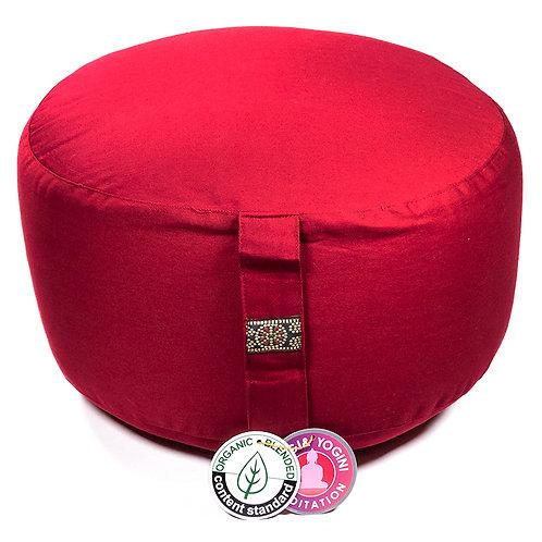 Coussin méditation XL rouge BIO