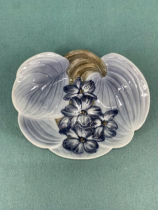 Nr: 1167 - Blomster Dekoreret Skål Art Nouveau Bing og Grøndahl B&G