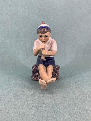 Nr: 1218 - Figur Dreng med trompet Dahl Jensen