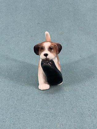 "Nr: 744 - Hund St. Bernard ""Bernie"" med sutsko Royal Copenhagen RC"