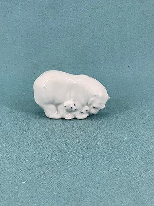 Nr: 4780 - Isbjørn med unger Royal Copenhagen