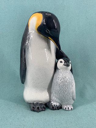 Nr: 088 - Pingvin med unge Royal Copenhagen RC