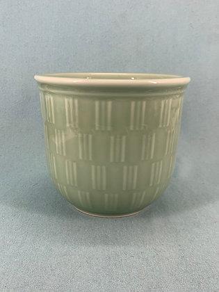 Nr: 1/3450 - Vase / Urtepotteskjuler i Celadonglasur Royal Copenhagen RC