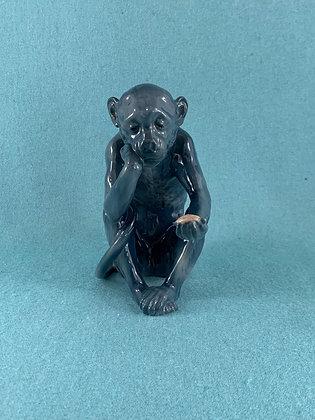 Nr: 1510 - Abe med skildpadde, sjælden blå Bing og Grøndahl B&G
