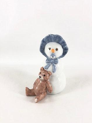 Nr: 019 - Snemands serien pige med bamse Royal Copenhagen RC