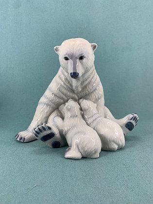 Nr: 087 - Isbjørn med unger Royal Copenhagen RC