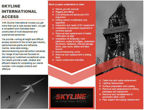 Skyline International Access Advertisement