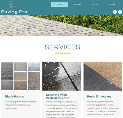 PavingPro Website Creation