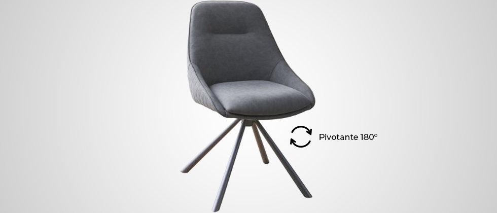 Chaise pivotante gris vintage BETTY