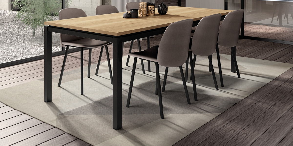 Table VICENZA / chaises OLIVIA