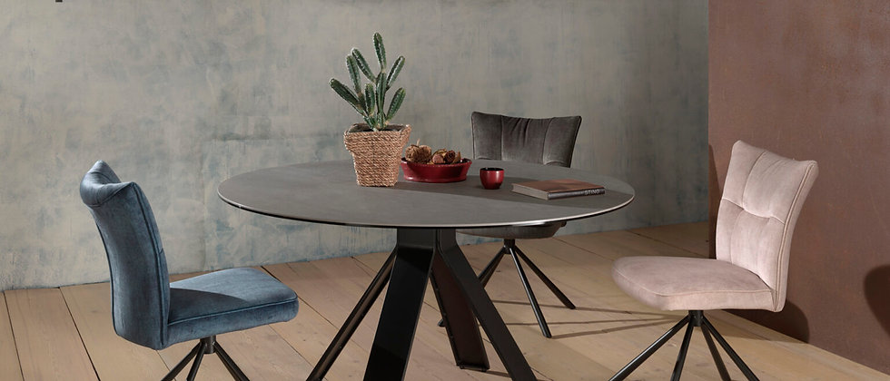 Table ronde céramique CAMERON