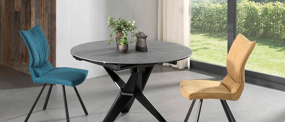 Table ronde céramique 1 allonge ESCAPE H