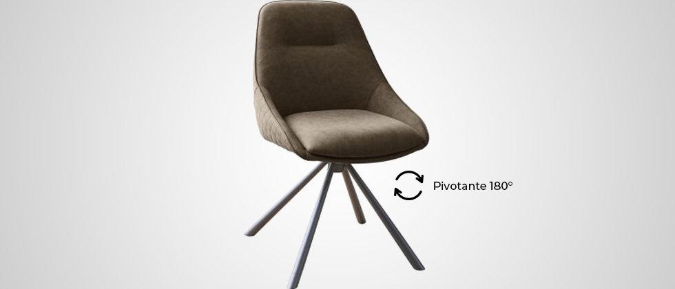 Chaise pivotante marron vintage BETTY