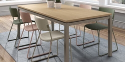 Table VICENZA / chaises ZOE