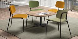 Table SPINNER / chaises LAGO