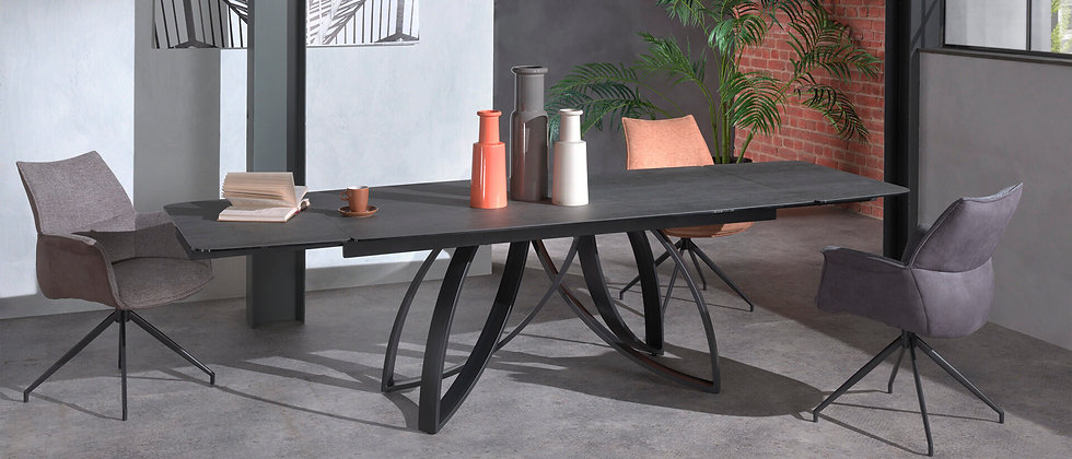 Table céramique 2 allonges GLORIA