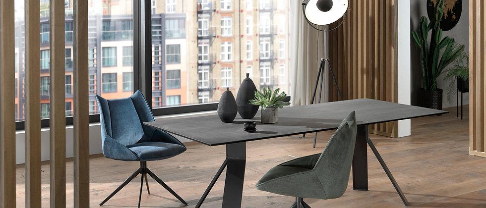 Table céramique 2 allonges CAMERON