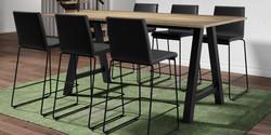 Table ALEGRO / tabourets BARCOMO