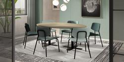 Table SPINNER 2 / chaises LASGO