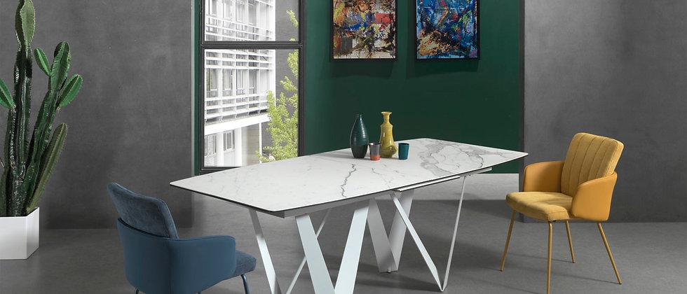 Table céramique 1 allonge ZEUS