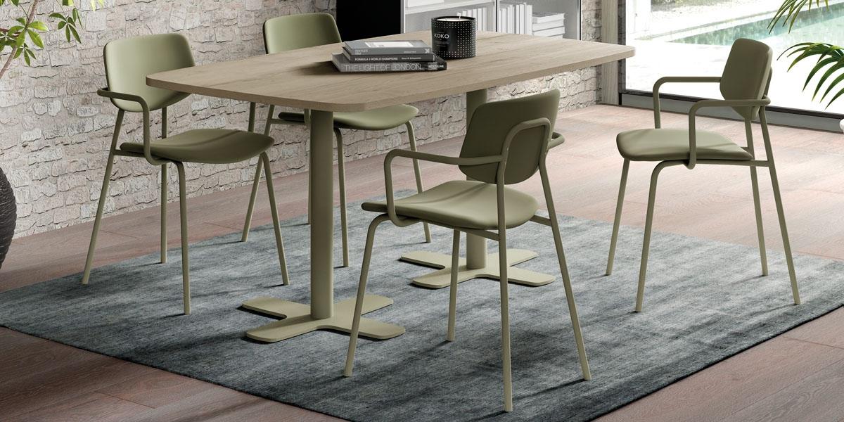 Table SPINNER 2 / chaises LAGO