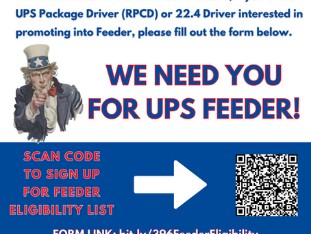UPS Feeder Drivers Needed