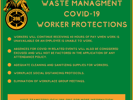 Waste Management COVID-19 Worker Protections
