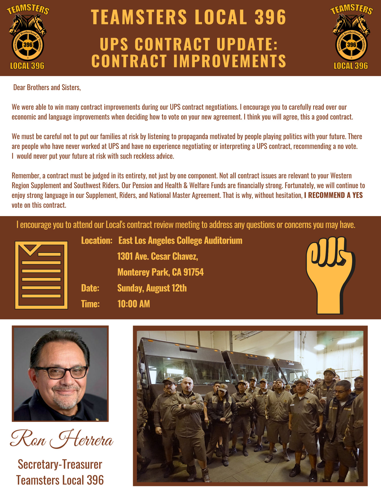 Ups Contract Update Contract Improvements