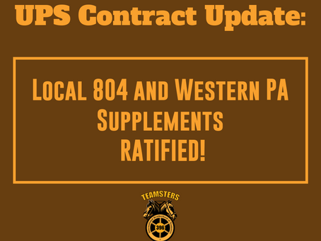 UPS Contract Update: April 9, 2019