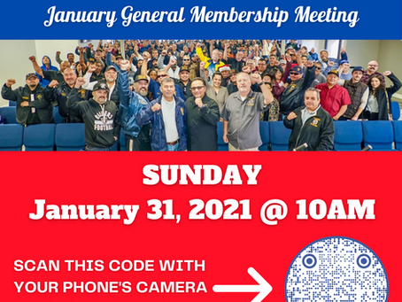 Local 396 Online January General Membership Meeting