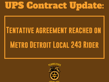 UPS Contract Update: April 12, 2019