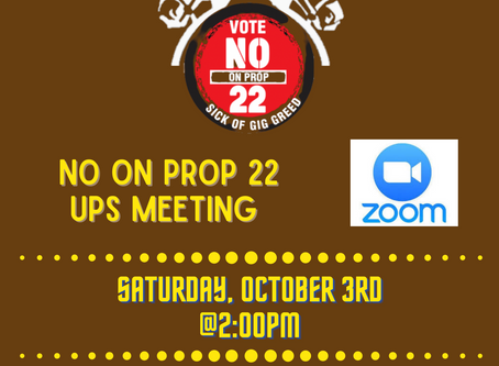JC 42 NO ON PROP 22 UPS MEETING