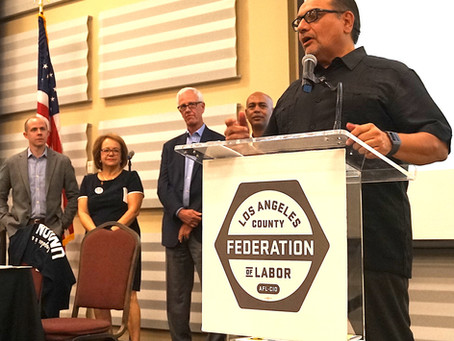 Ron Herrera Sworn In as President of the LA County Federation of Labor