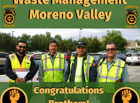 Waste Management Moreno Valley Teamsters Ratify New Five Year Contract