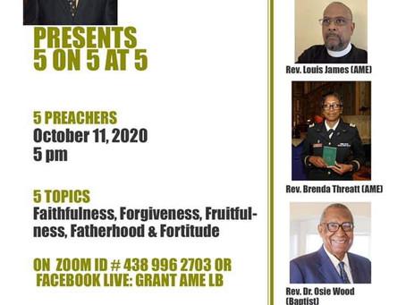 Rev Dr. Eagle Presents 5 on 5 at 5