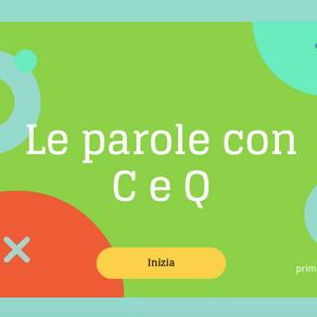 ESERCIZIO LE PAROLE CON C E Q