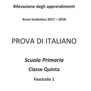 2017/2018 - PROVA DI COMPRENSIONE