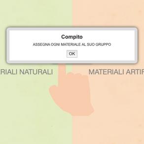 ESERCIZIO MATERIALI NATURALI E ARTIFICIALI