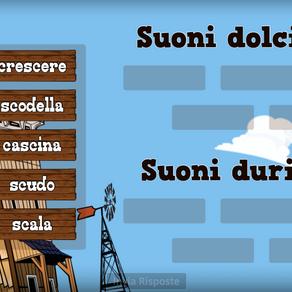 """ESERCIZIO SUONI DOLCI E DURI CON """"SC"""""""