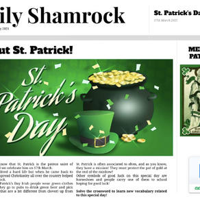 ST PATRICK'S DAY - ENGLISH CONTENT