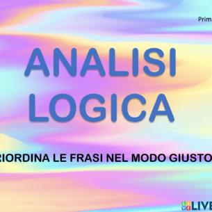 ESERCIZIO L'ANALISI LOGICA 2