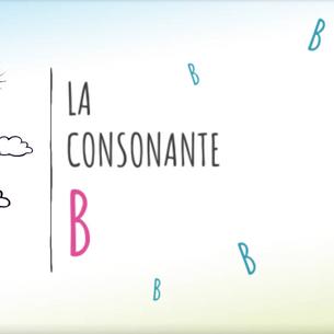 """PRESENTAZIONE DELLA CONSONANTE """"B"""""""