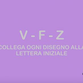 """ESERCIZIO LE CONSONANTI """"V"""",""""F"""",""""Z"""""""